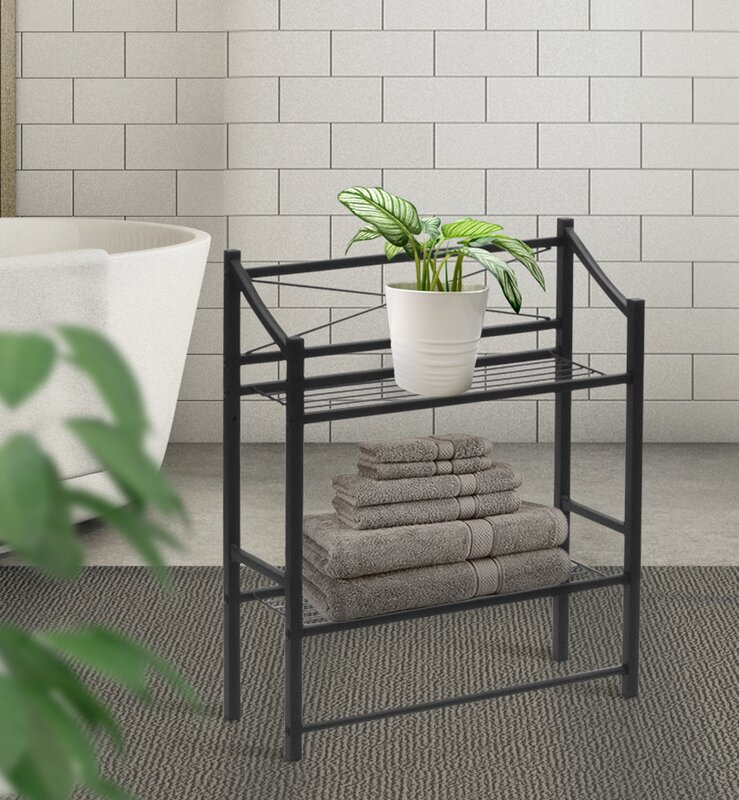 Winston Porter Waterfield 2-Tier Bathroom Shelf & Reviews | Wayfair.ca