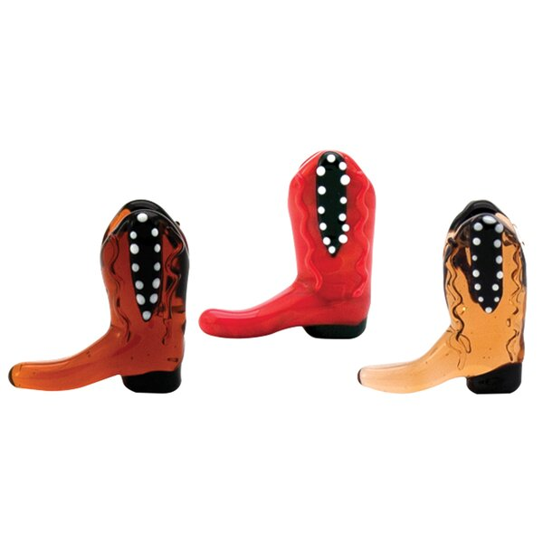 Meadow Mini Cowboy Boots 6 Piece Sculpture Set by Millwood Pines