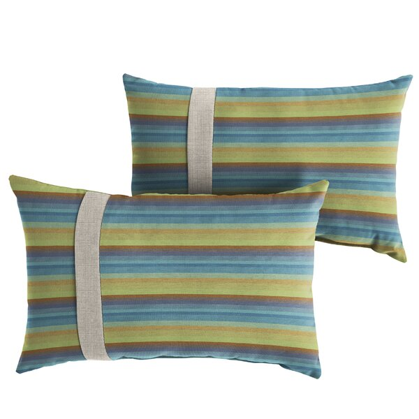 Chronister Indoor/Outdoor Lumbar Pillow (Set of 2) by Corrigan Studio