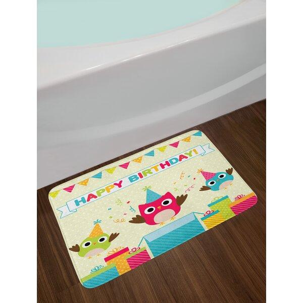 Kids Birthday Bath Rug by East Urban Home