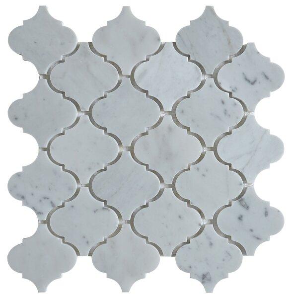 Lantern Carrara 3 x 3 Marble Mosaic Tile in White by Matrix Stone USA