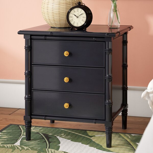 Aylin 3 Drawer Nightstand by Bayou Breeze