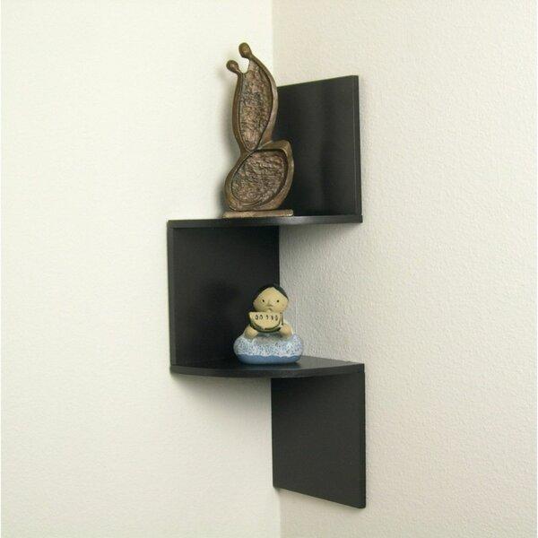 Osterhout Laminated Corner Wall Shelf by Wrought Studio