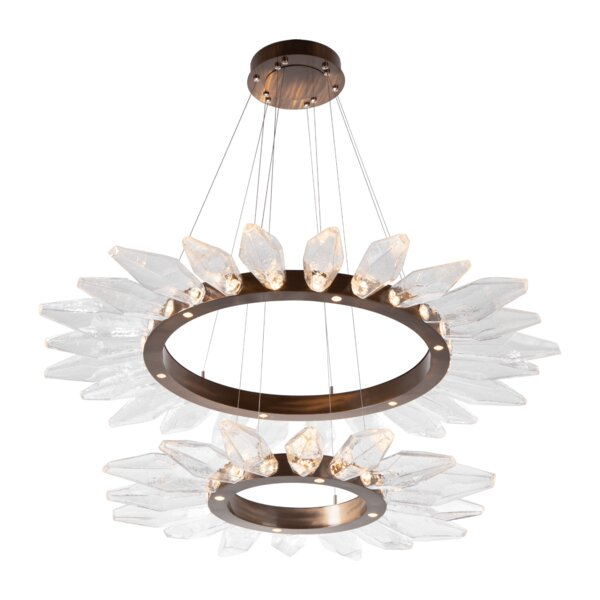 Rock Crystal 50 - Light Wagon Wheel LED Chandelier By Hammerton Studio