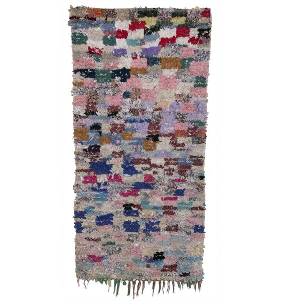 Boucherouite Azilal Hand-Woven Pink/Purple Area Rug by Casablanca Market