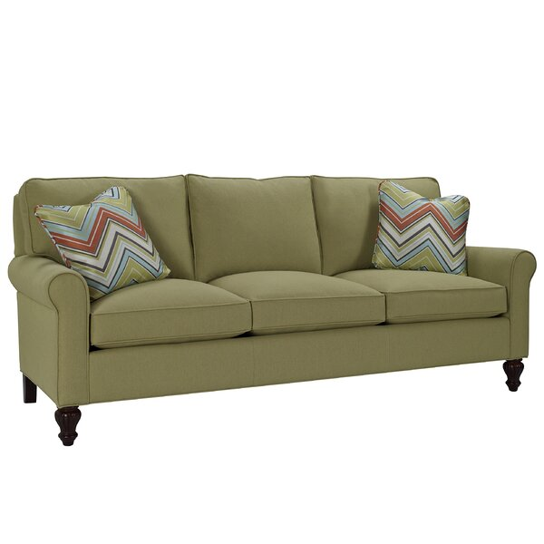 Loose Pillow Back Sofa: Classic Comfort Curved Arm Three Loose Pillow Back Sofa