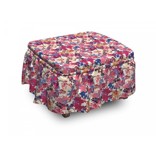 Winter Cold Weather New Year 2 Piece Box Cushion Ottoman Slipcover Set By East Urban Home
