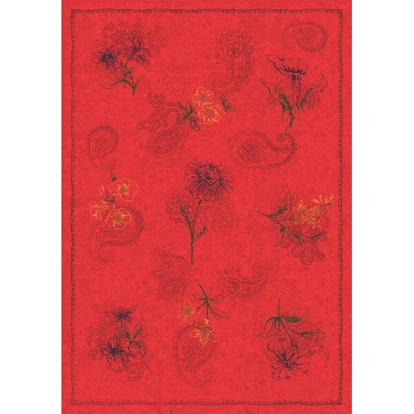 Pastiche Vintage Aurora Red Area Rug by Milliken