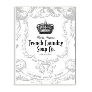 French Laundry Soap Co Crown Graphic Wall Plaque by Stupell Industries