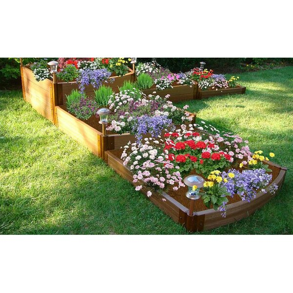 Classic Sienna 12 ft x 12 ft Composite Raised Garden by Frame It All
