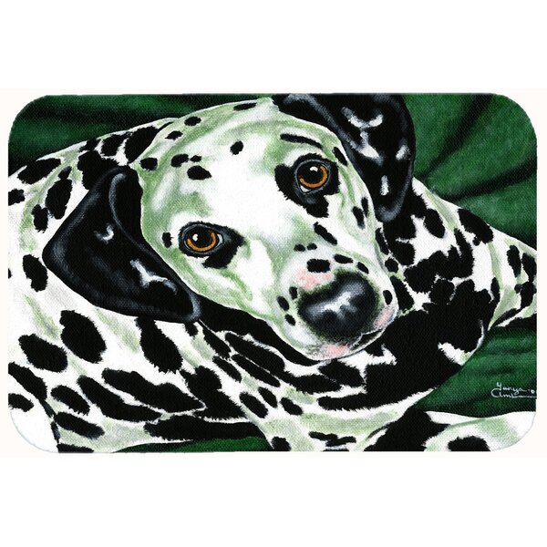 Emerald Beauty Dalmatian Kitchen/Bath Mat by Caroline's Treasures