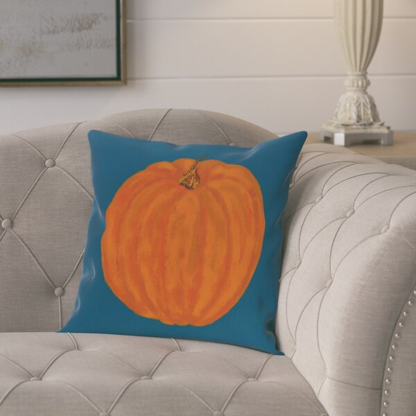 Roslindale Pumpkin Holiday Print Throw Pillow by August Grove