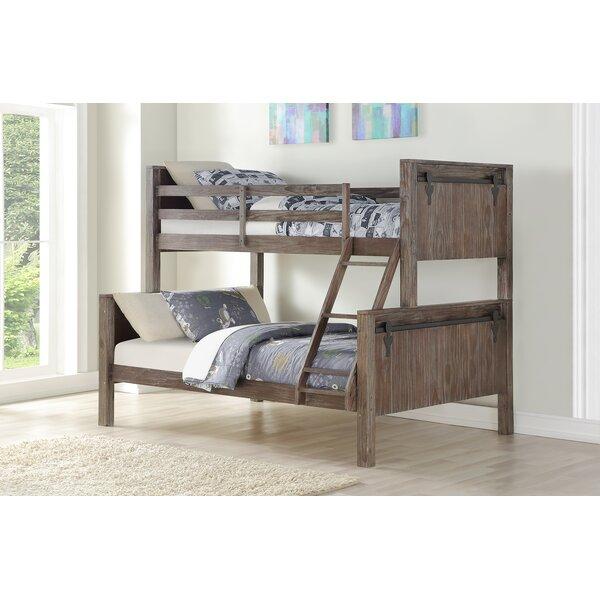 Colfax Barn Door Twin Over Full Bunk Bed by Harriet Bee