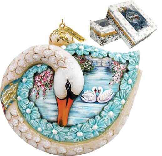 Fifield Trumpet Swan Scenic Ornament by The Holiday Aisle