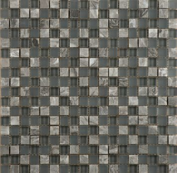 Lucente 0.6 x 0.6/12 x 12 Glass Stone Blend Mosaic Tile in Concordia by Emser Tile