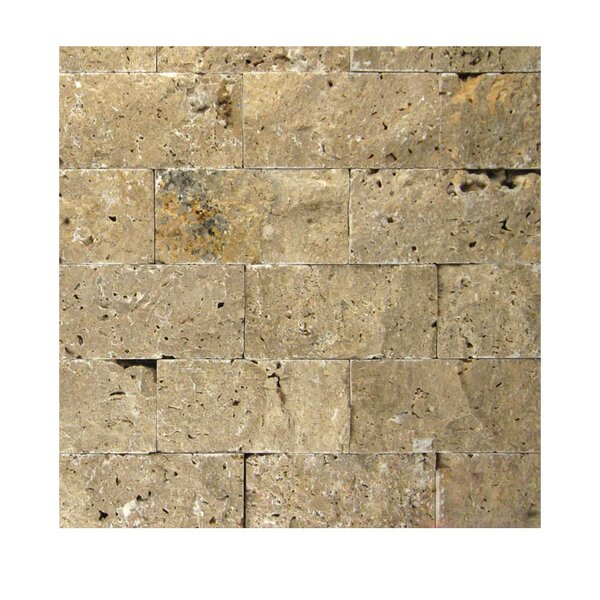 2 x 4 Natural Stone Mosaic Splitface Tile in Noce by QDI Surfaces