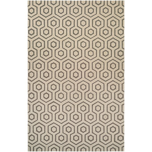 Atticus Hand-Woven Ivory/Gray Area Rug by Corrigan