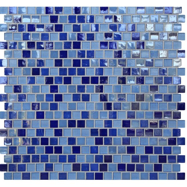 Opal 0.63 x 0.63 Glass Mosaic Tile in Odyssey by Kellani