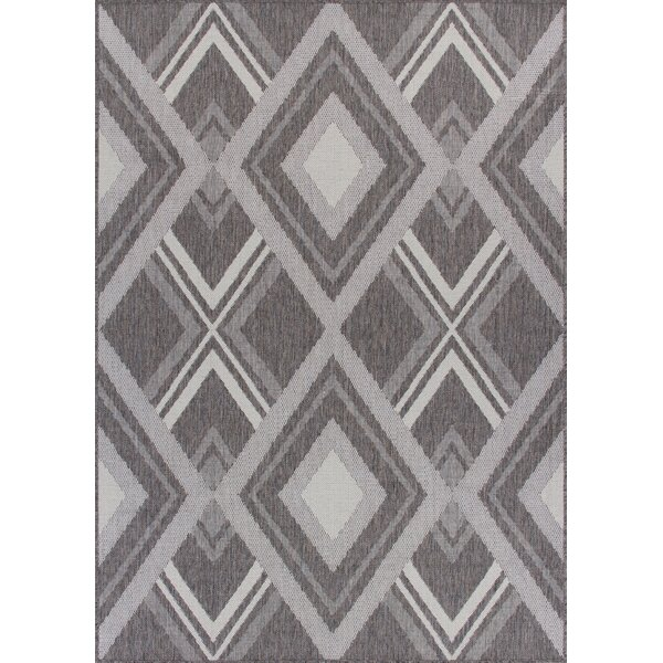 Tennyson Weather-Proof Gray Indoor/Outdoor Area Rug by Wrought Studio
