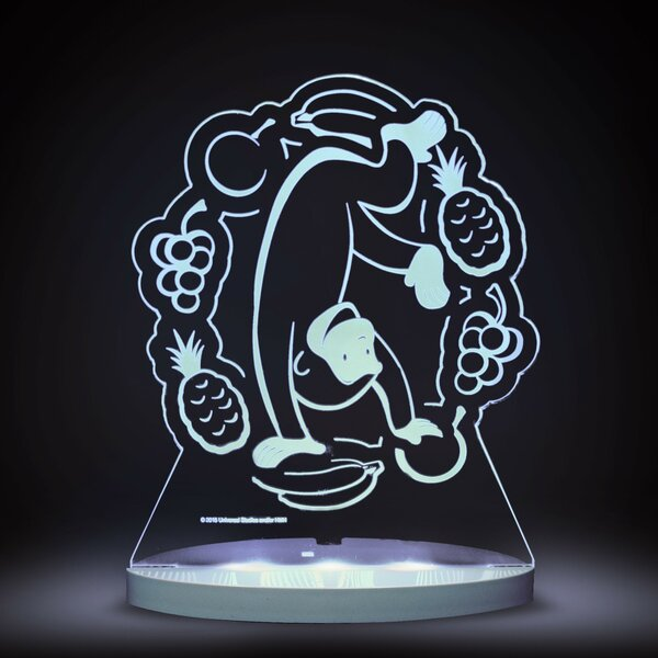Curious George with Fruit LED 3-Light Night Light by CompassCo
