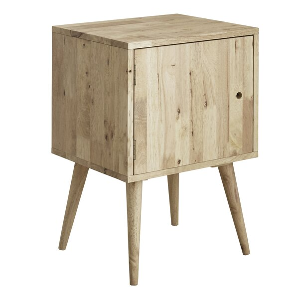 Wanita Natural All Wood Nightstand By Corrigan Studio
