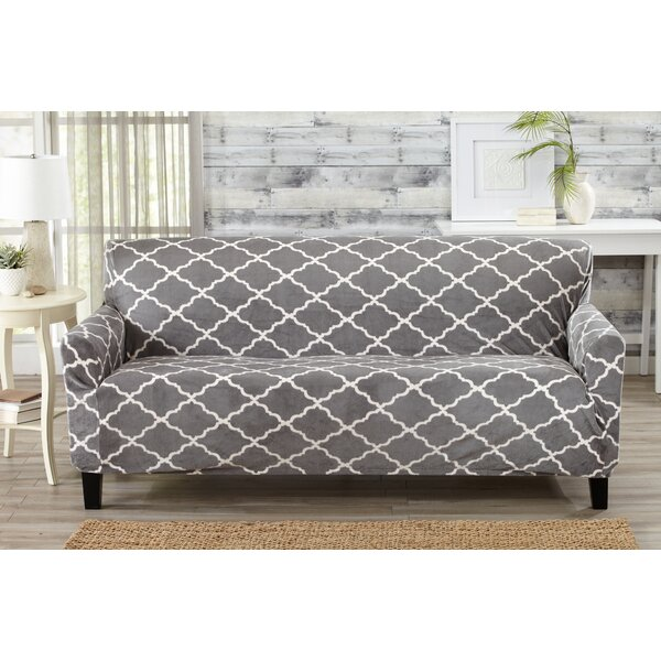 Box Cushion Sofa Slipcover by Alcott Hill