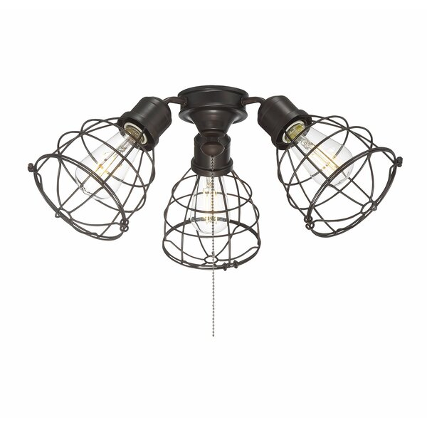 Heath 3-Light Branched Ceiling Fan Light Kit by Williston Forge