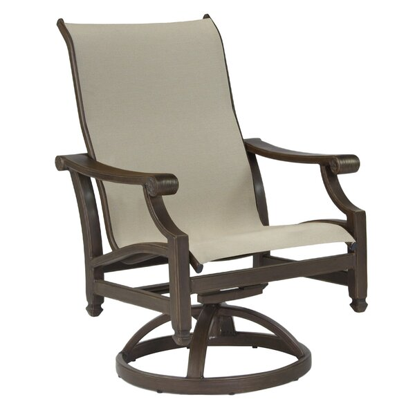 Grand Regent Sling Swivel Rocking Chair (Set of 2) by Leona