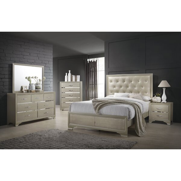 Odele Upholstered Standard Bed by Rosdorf Park
