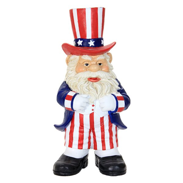 Uncle Sam Gnome Statue by Exhart
