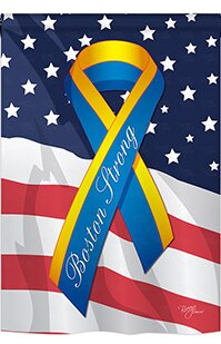 Boston Strong 2-Sided Polyester Garden Flag by Breeze Decor