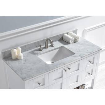 Avanities Xena Ceramic 48 Double Bathroom Vanity Top Wayfair