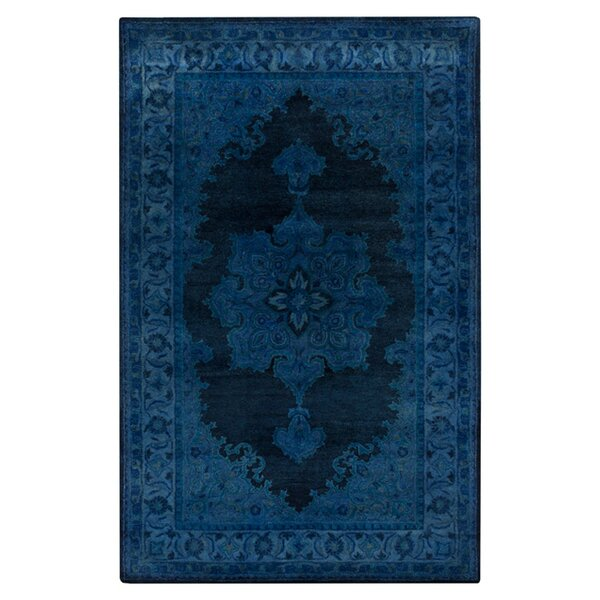 Reckange-sur-Mess Tufted Navy Area Rug by Bungalow Rose