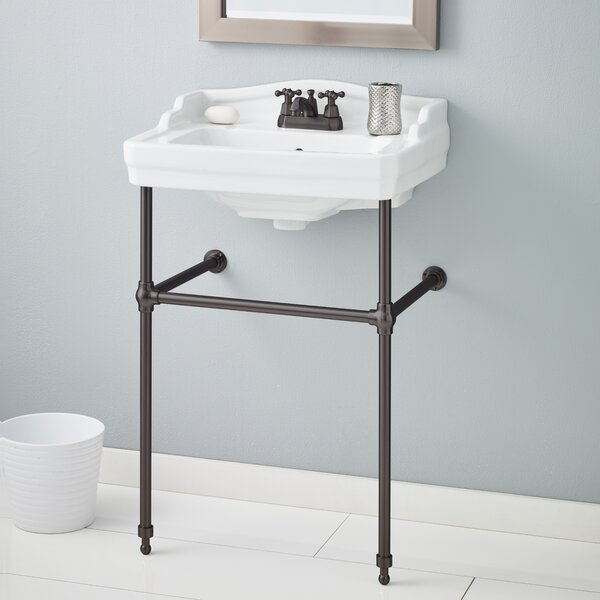 charming shelf bathroom sink console with