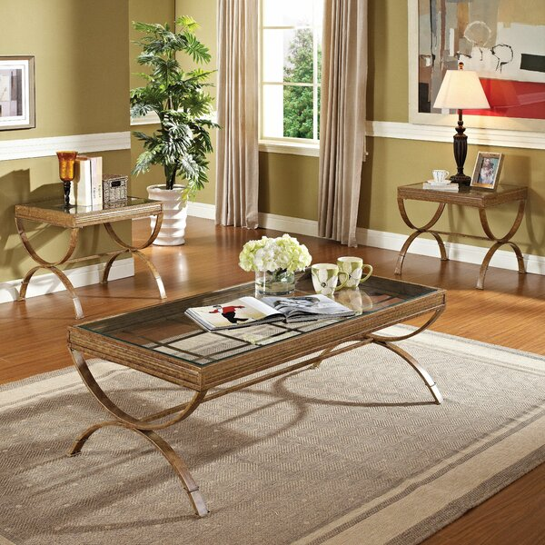 Quintin 3 Piece Coffee Table Set by Wildon Home ®