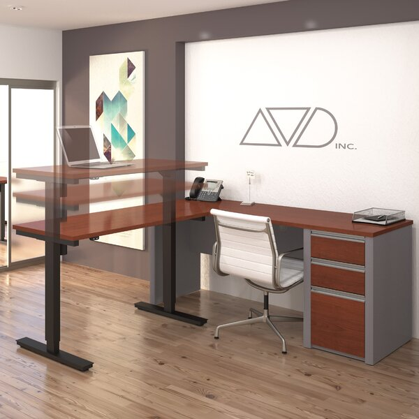 Karla L-Shape Desk Office Suite by Latitude Run