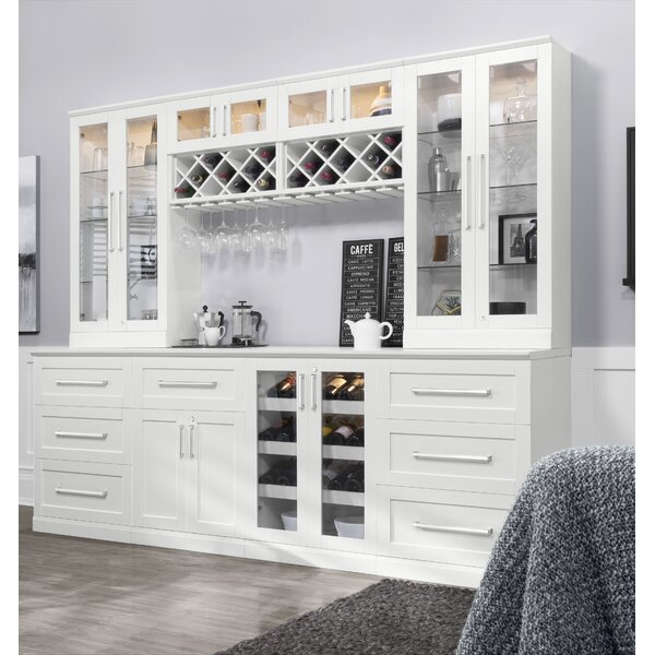 Home Bar 8 Piece Shaker Style with Wine Storage by NewAge Products