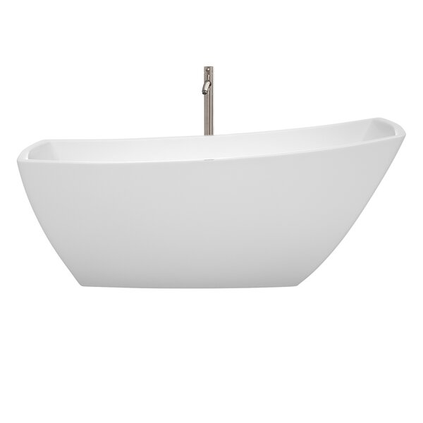 Antigua 67 x 31 Freestanding Soaking Bathtub by Wyndham Collection
