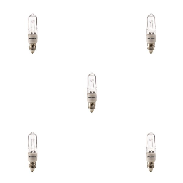 E11 Dimmable Halogen Light Bulb (Set of 5) by Bulbrite Industries