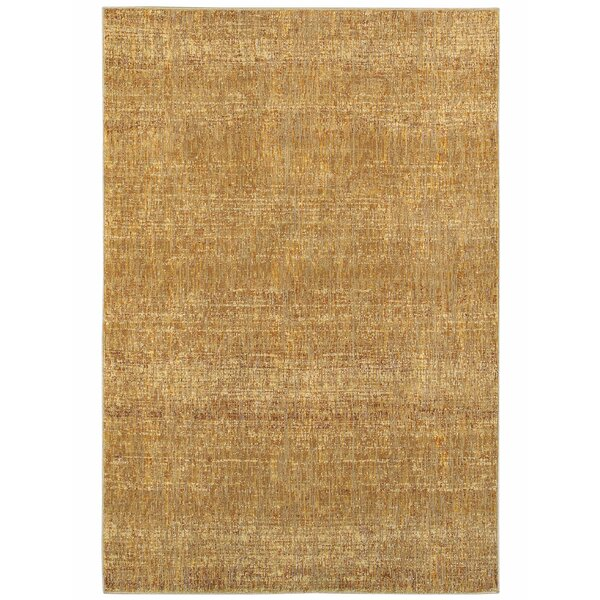 Bobby Gold Area Rug by Winston Porter