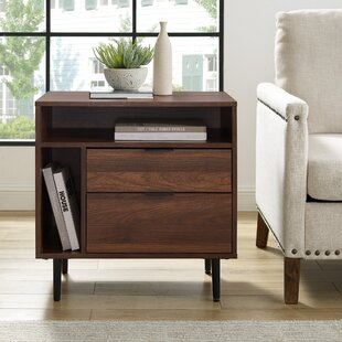 Pillar End Table with Storage by Wrought Studio