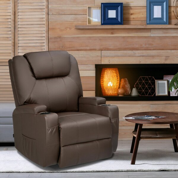 8 Point Leather Heated Massage Chair W001451161