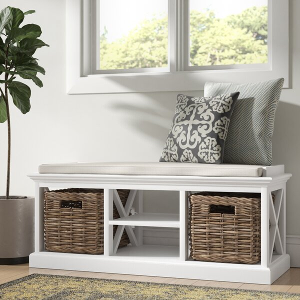 Sroda Solid Wood Cubby Storage Bench by Beachcrest Home Beachcrest Home