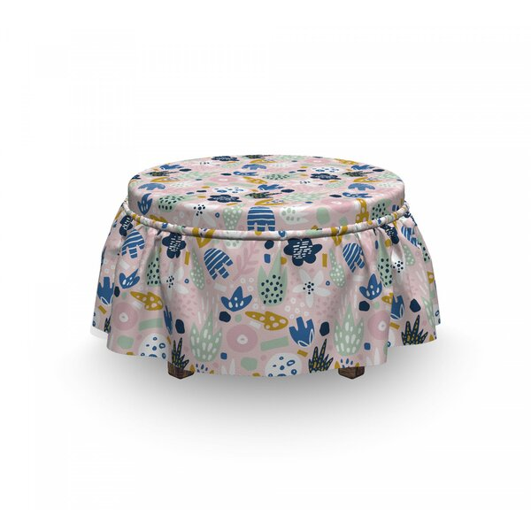 Scattered Nursery Concept Ottoman Slipcover (Set Of 2) By East Urban Home