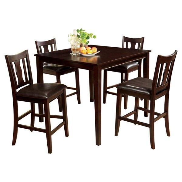 Petite 5 Piece Counter Height Dining Set by Hokku Designs