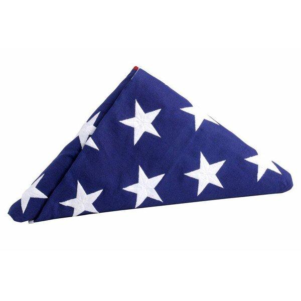 Official U.S. Interment Cotton 5 x 9.5 ft. Flag by U.S. Flag Store