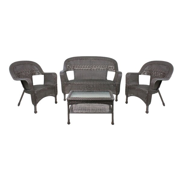 Fawcett 4 Piece Sofa Seating Group by Bay Isle Home