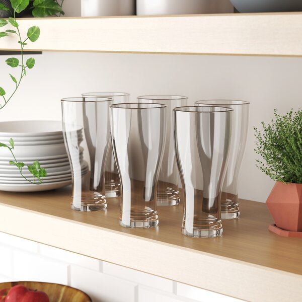 Labrenz 19 oz. Acrylic Pilsner Glass (Set of 6) by Red Barrel Studio