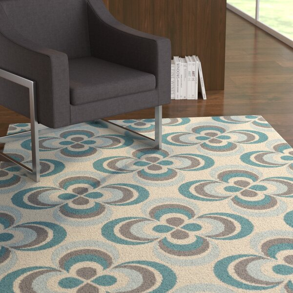 Mraz Aqua/Light Blue Area Rug by Ebern Designs