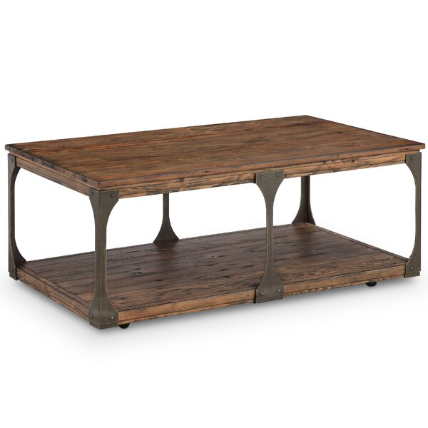 Aradhya Wood Coffee Table with Casters by 17 Stories